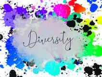 La diversidad es fondo bueno, conceptual con el texto Fotografía de archivo