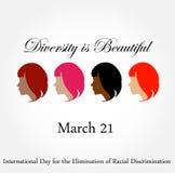La diversidad es hermosa 21 de marzo Imágenes de archivo libres de regalías