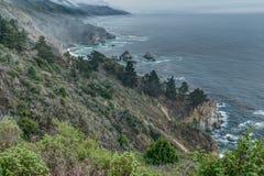 La diversidad honra el paisaje costero de California Fotografía de archivo libre de regalías
