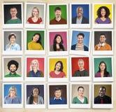 La diversità della gente affronta il concetto della Comunità del ritratto del viso umano Fotografia Stock