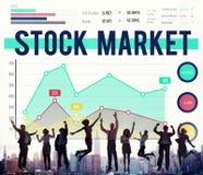 La divisa de las finanzas de la economía del mercado de acción comparte concepto Imagen de archivo libre de regalías
