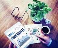 La divisa de las finanzas de la economía del mercado de acción comparte concepto Fotografía de archivo libre de regalías