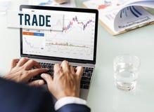 La divisa del comercio de la acción de los resultados del mercado de acción comparte concepto Fotos de archivo