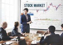 La divisa del comercio de la acción de los resultados del mercado de acción comparte concepto Imagen de archivo libre de regalías