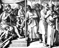 La división para arriba de Canaan Imágenes de archivo libres de regalías