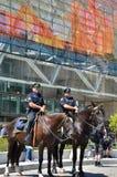 La divisione di Mouned della polizia di Detroit sta all'attenzione immagini stock libere da diritti