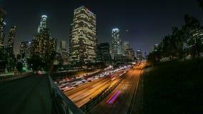 LA do lapso de tempo do tráfego de cidade filme