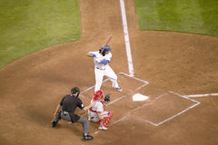 LA Dodger,. #99, Manny Ramirez batting during National League Championship Series (NLCS), Dodger Stadium, Los Angeles, CA on October 12, 2008 stock photography