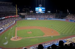 LA Dodgers vs Seattle Mariners Stock Photography
