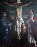 la dodicesima via Crucis, Gesù muore sull'incrocio Immagine Stock