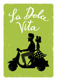 La dolce vita vector illustration