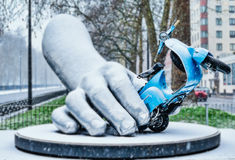 La Dolce Vita. Sculpture by Lorenzo Quinn, London Royalty Free Stock Image