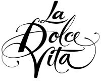 La Dolce Vita. Vector version of my own calligraphy Royalty Free Stock Photo