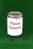 La donation peut Image libre de droits
