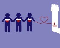 La donazione di sangue può conservare la gente illustrazione di stock
