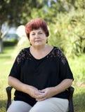 La donna è anziana Immagini Stock Libere da Diritti