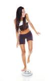La donna è scontentata con il peso corporeo Fotografie Stock Libere da Diritti