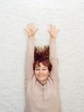 La donna è sorseggiata Fotografie Stock Libere da Diritti