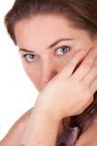 La donna è triste Fotografie Stock Libere da Diritti