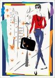 La donna alla moda Fotografia Stock Libera da Diritti