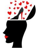 La donna ama le scarpe Immagine Stock Libera da Diritti