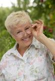 La donna anziana Immagine Stock