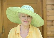 La donna anziana Immagini Stock