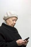 La donna anziana Fotografia Stock