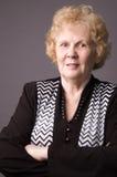 La donna anziana. Fotografia Stock