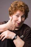 La donna anziana allegra. Fotografie Stock Libere da Diritti