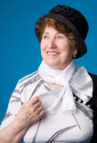 La donna anziana allegra. Immagine Stock Libera da Diritti