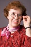 La donna anziana piacevole. fotografia stock