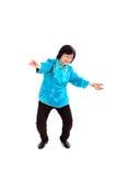 La donna cinese esegue il 'chi' del Tai Fotografia Stock