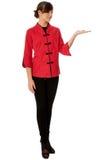 La donna in cinese si veste sulla settimana di modo a Parigi Fotografie Stock