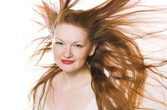 la donna con capelli lunghi Immagini Stock Libere da Diritti