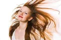 la donna con capelli lunghi Immagini Stock