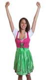 La donna con capelli marroni dalla Baviera ama il Oktob Fotografia Stock