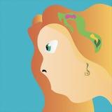 La donna con capelli rossi Fotografia Stock