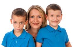 La donna con i bambini Fotografia Stock