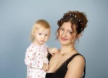 La donna con il bambino Fotografia Stock Libera da Diritti