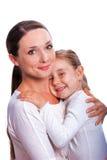 La donna con il bambino Immagini Stock