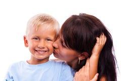 La donna con il figlio Fotografie Stock