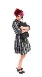 La donna è con un sacchetto Fotografie Stock