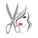 La donna dei capelli mostra Person Adult And Hairdo illustrazione di stock