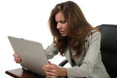 La donna di affari ha frustrato 4 immagine stock libera da diritti