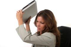 La donna di affari ha frustrato 8 fotografia stock