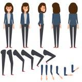 La donna di affari ha messo 1, piede, mano illustrazione di stock