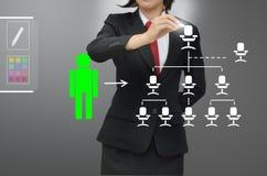 La donna di affari (ora) ha selezionato il talento della persona Immagine Stock