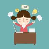 La donna di affari ottiene il vettore di idea Immagine Stock