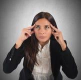 La donna di affari riflette Immagini Stock Libere da Diritti